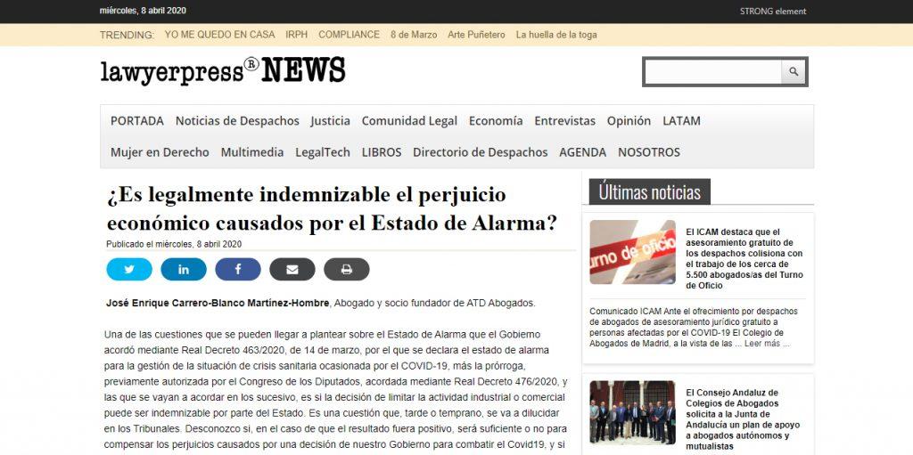 perjuicios-economicos-covid-19-lawyerpress-jose-enrique-carrero-blanco